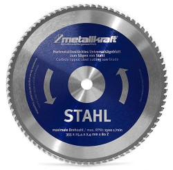 355x25,4mm 80zubů Pilový kotouč na ocel METALLKRAFT
