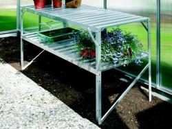 Regál do skleníku VITAVIA 120x52 cm 2 police stříbrný