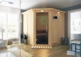 KARIBU JARIN finská sauna vnitøní 1,96x1,96m bez topidla