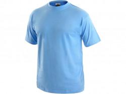 Tričko DANIEL krátký rukáv, bavlna, nebesky modré