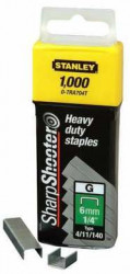 STANLEY Spony HD typ G délka 6mm 1000ks