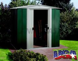 DRESDEN 65 zahradní domek zelený 151x194cm