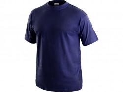 Tričko DANIEL krátký rukáv, bavlna, tmavě modré