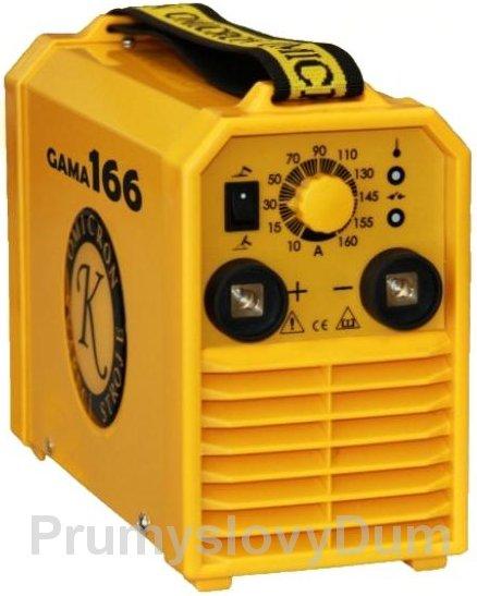 GAMA 166 svářecí invertor + samostmívací kukla, kabely