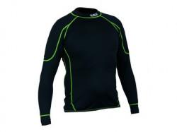Dìtské funkèní trièko REWARD, dl. rukáv, èerno-zelené