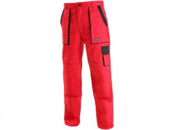 Pracovní kalhoty prodloužené CXS LUXY JOSEF červeno-černé