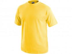 Tričko DANIEL krátký rukáv, bavlna, žluté