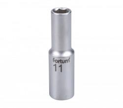 """11mm hlavice 1/2"""" 6hran prodloužená FORTUM"""