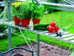 VENUS / URANUS závěsná AL polička do skleníku 120x29cm