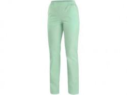 Dámské kalhoty CXS TARA zelené s bílými doplňky