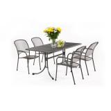 CARONI 4+ zahradní sestava stùl + 4x židle tahokov