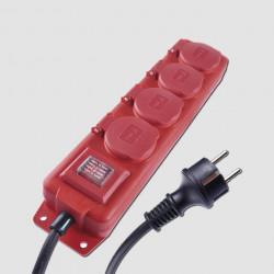 EMOS Prodlužovací kabel 4Z 10M 1,5mm IP44 GUMA