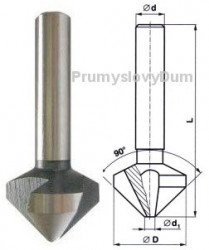 Záhlubník 15x90 mm kuželový 221625