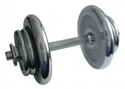 ACRA Nakládací činka jednoruční, chromová 17kg