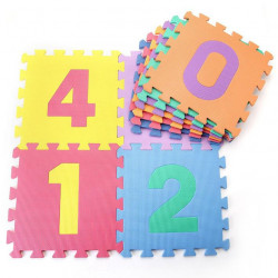 Dìtská hrací podložka s èísly Sedco 30x30x1,0cm - 10ks