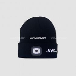 Čepice s čelovkou černá, nabíjecí přes USB, UNI velikost, XTline