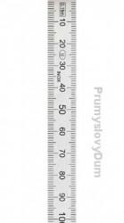 Ocelové měřítko 500x30x1mm ohebné tenké KINEX