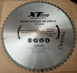 500x30 mm 60 zubù Pilový kotouè s SK plátky XTline - BAZAR NEPOUŽITÝ 1 zub opravovaný