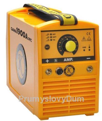 GAMA 1900A PFC svářecí invertor + samostm. kukla, kabely
