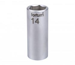 """14 mm hlavice nástrčná prodloužená FORTUM 1/4"""""""