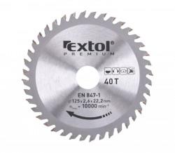125x22,2 mm 40zubù Pilový kotouè EXTOL PREMIUM 8803207
