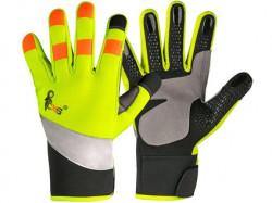BENSON rukavice kombinované žluto-černé, výstražné doplňky