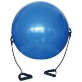 Gymnastický míè s gumovými úchyty 65cm