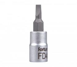 """4mm plochý šroubovák hlavice 1/4""""FORTUM"""