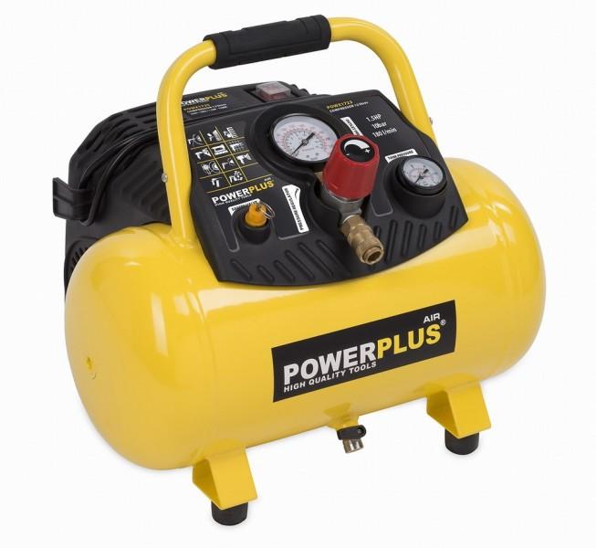 POWERPLUS POWX1723 Kompresor přenosný 10bar