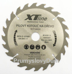 160x2,0x20 (16)mm XTline 24zubù Pilový kotouè SK plátky