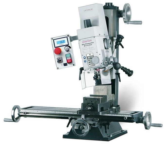 OPTIMUM OPTImill BF 20 L Vario frézka na kov + KLÍČE
