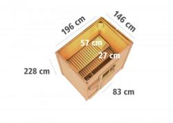 KARIBU JORGEN finská sauna venkovní 1,96x1,46m bez topidla