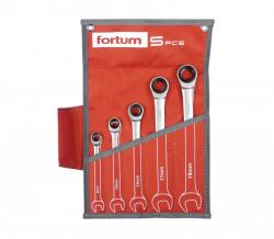 8-19mm klíče ráčnové očkoploché 5ks FORTUM 4720102