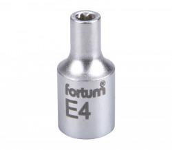 """E4 TORX hlavice nástrčná 1/4"""" FORTUM"""