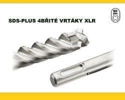 10x260 SDS Plus vrták 4-břitý XLR DeWALT