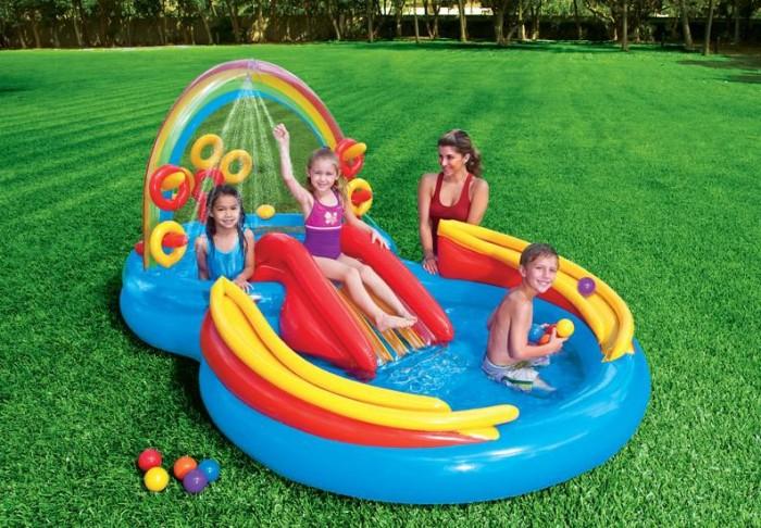 INTEX 57453 Nafukovací bazén Duha Play Centrum