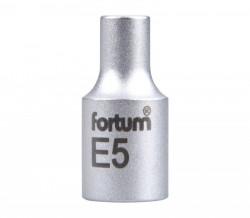 """E5 TORX hlavice nástrčná 1/4"""" FORTUM"""