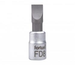 """8mm plochý šroubovák hlavice 1/4""""FORTUM"""