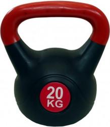 Činka Kettlebell 20 kg LifeUp černo/červená