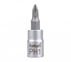 "PH1 plochý šroubovák hlavice 1/4""FORTUM"