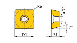 Břitové destičky S/90°, 5 ks SCMT160608