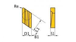 Břitové destičky K/55°, 5 ks KNUX160405R