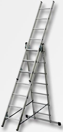 Žebřík XT611 XTline 3 x 11 příček 8,2m s úpravou na schody