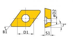 Břitové destičky D/55°, 5 ks DCMT070204