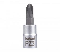 """PZ3 plochý šroubovák hlavice 1/4""""FORTUM"""