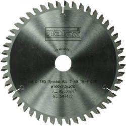 160x2,5x20 NAREX na hliník 48 zubů Pilový kotouč