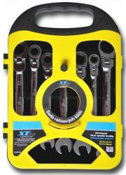 10-19mm Sada ráčnových klíčů kloubové XTline