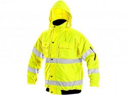 Reflexní bunda žlutá LEEDS zimní