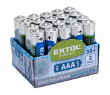 Baterie AAA mikrotužkové R03 1,5V zink-chloridové 20ks EXTOL