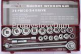 """21-dílná 3/4"""" gola sada 19-50mm STAVTOOL P16456 6-hraný"""